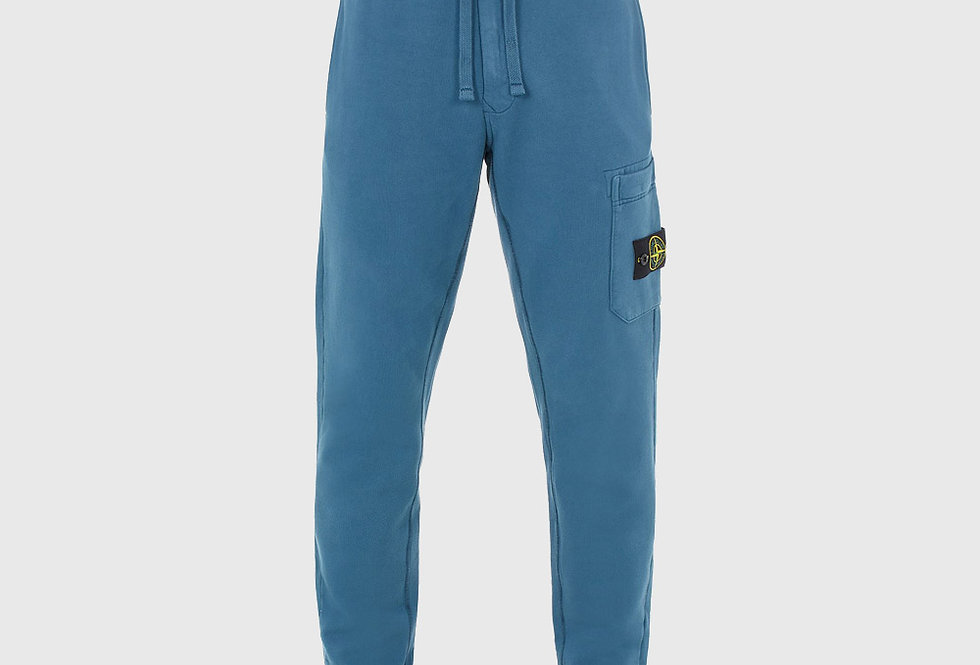 Stone Island 64520 Brushed Cotton Fleece Trousers Teal