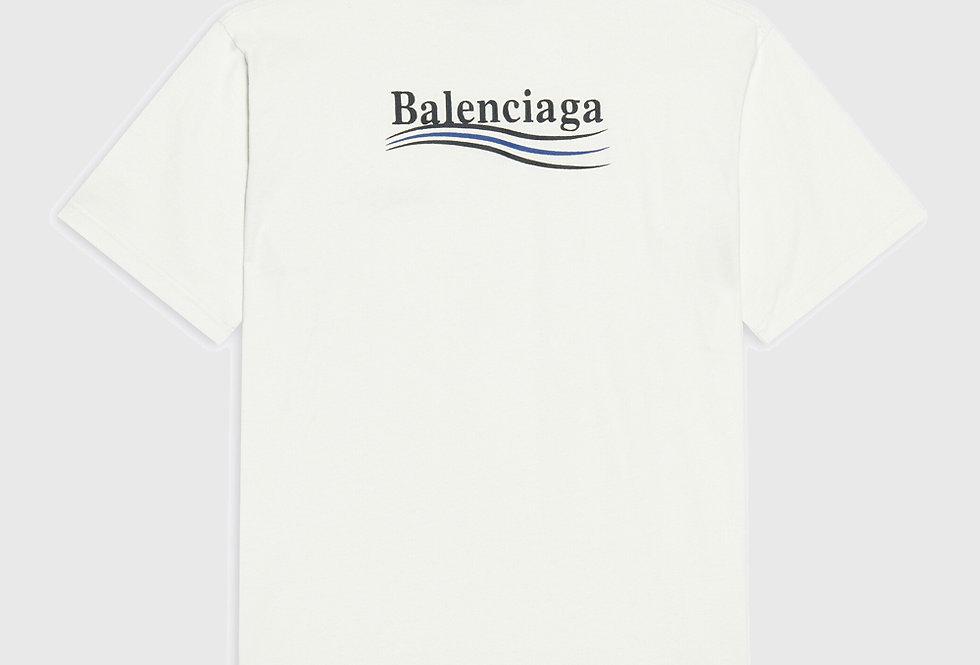 Balenciaga Political Campaign Large Fit T-shirt White