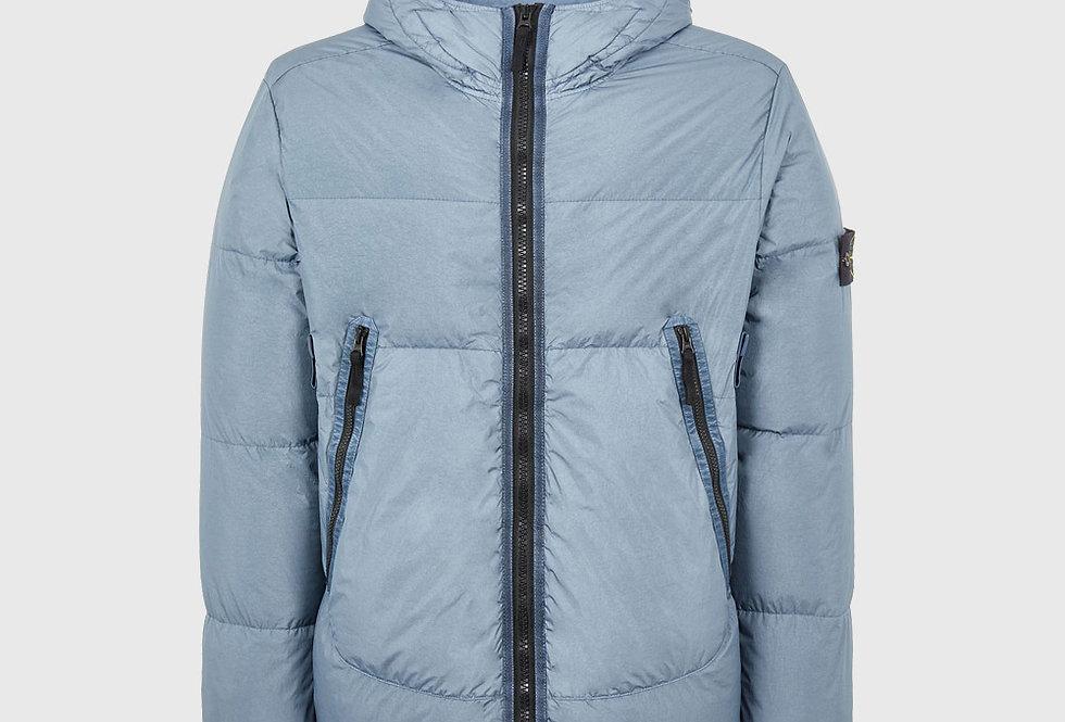 Stone Island 40123 Garment Dyed Crinkle Reps NY Down TC Jacket Pastel Blue