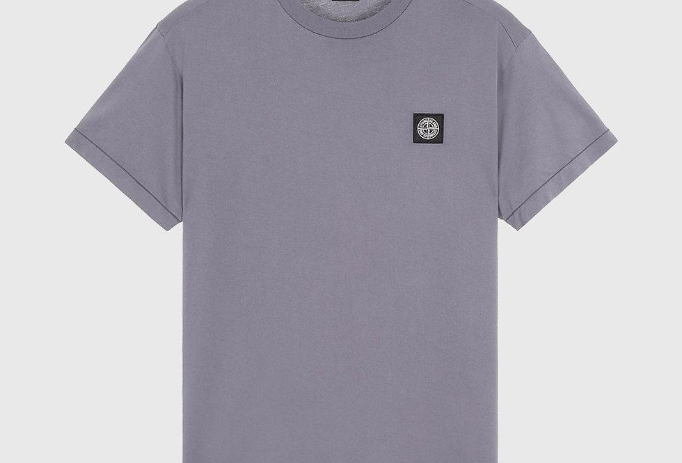 Stone Island 24113 Patch Logo T-shirt Blue Grey