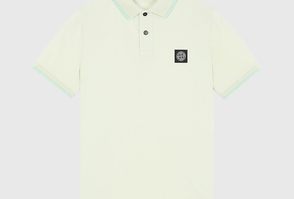 Stone Island 22S18 Stretch Pique Polo Shirt Light Green
