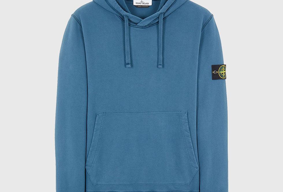 Stone Island 64120 Cotton Fleece Hooded Sweatshirt Teal