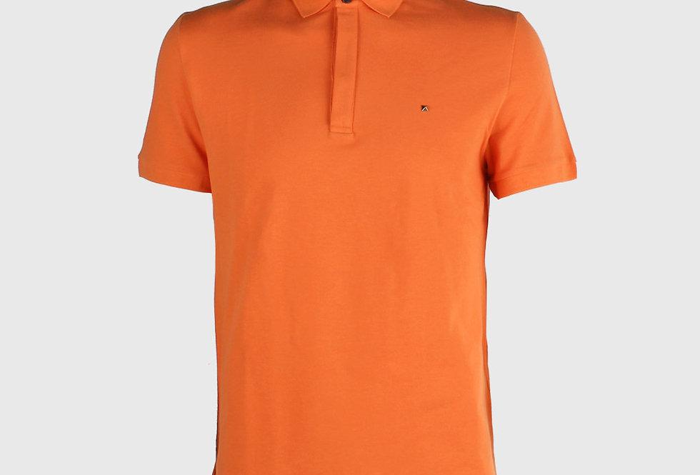 Valentino Iconic Stud Polo Shirt Orange