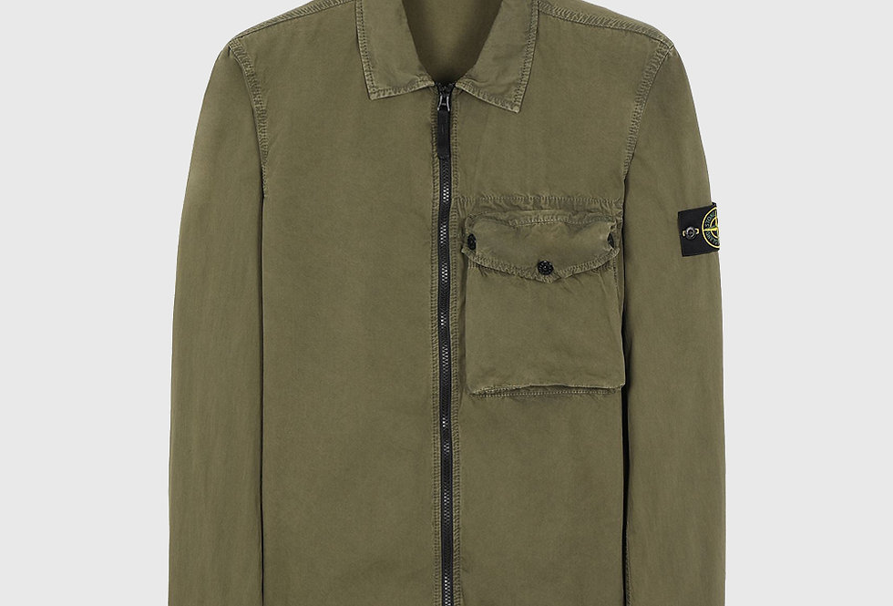 Stone Island 117WN T.CO+OLD Overshirt Olive Green
