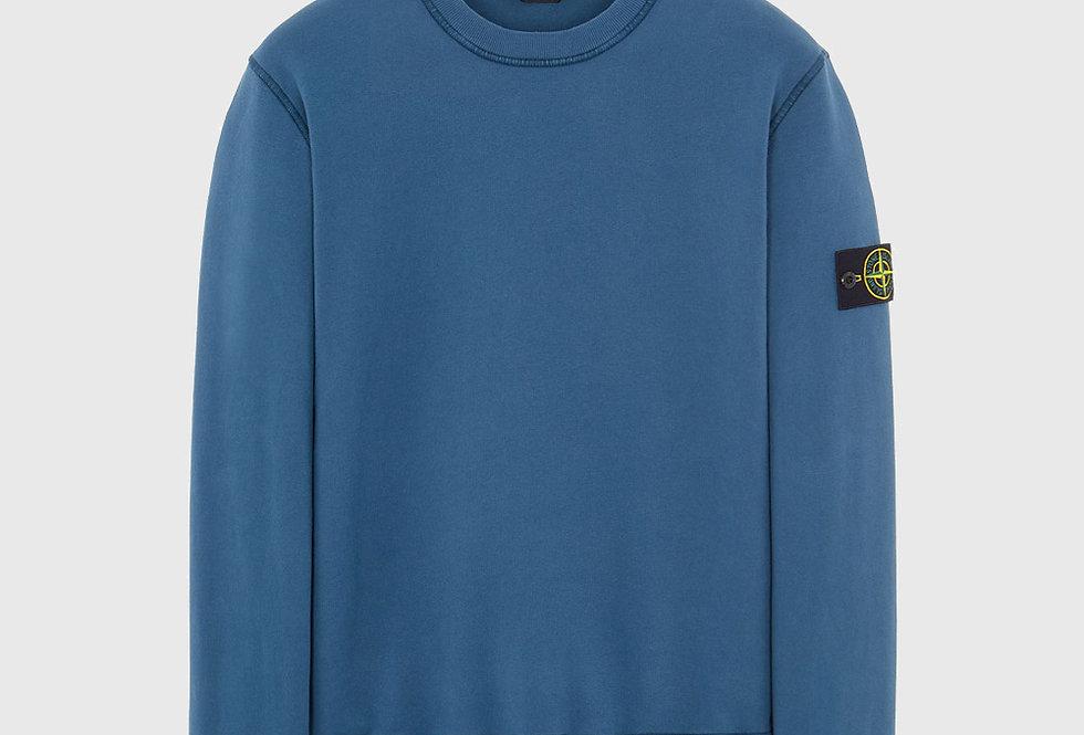 Stone Island 63020 Cotton Fleece Sweatshirt Teal