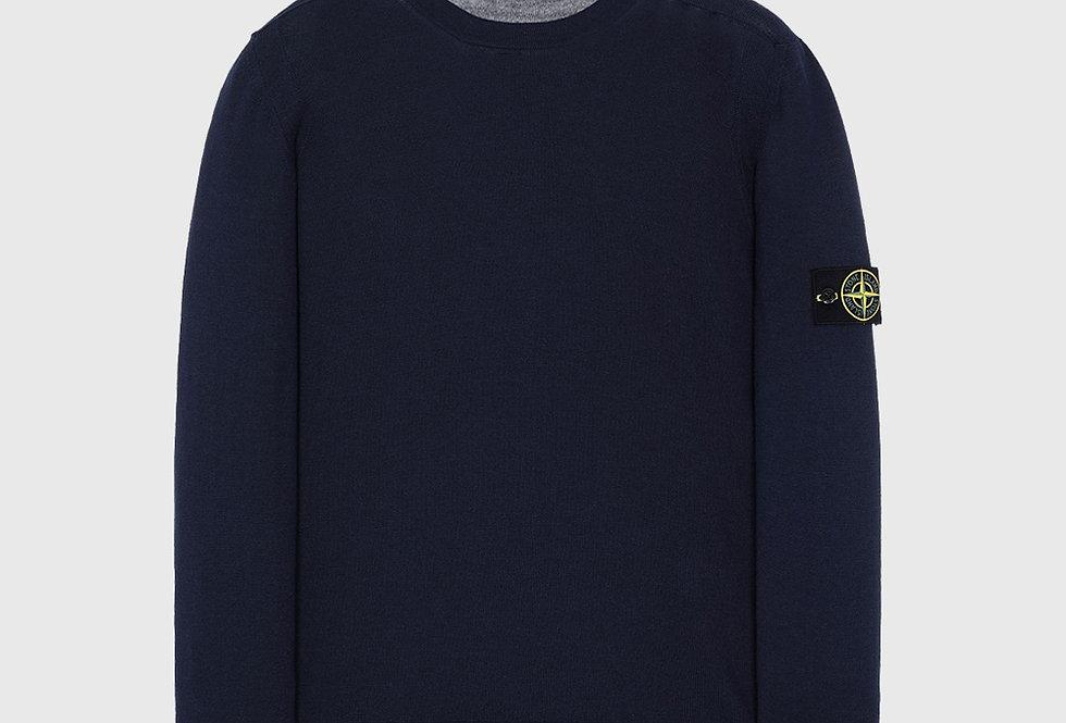 Stone Island 526C4 Wool Pullover Knitwear Marine
