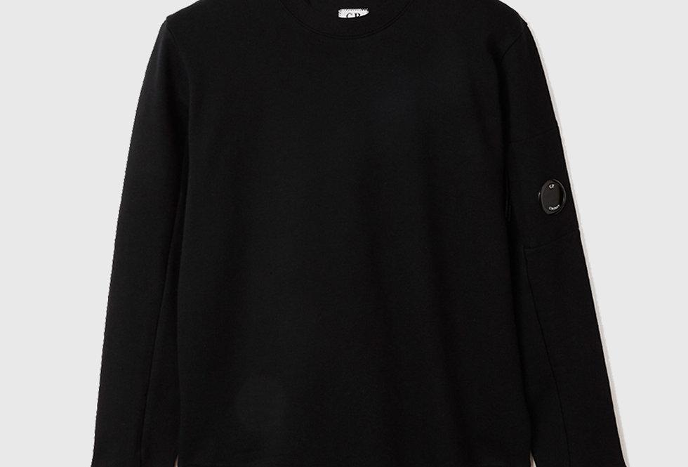 C.P. Company Diagonal Raised Fleece Sweatshirt Black