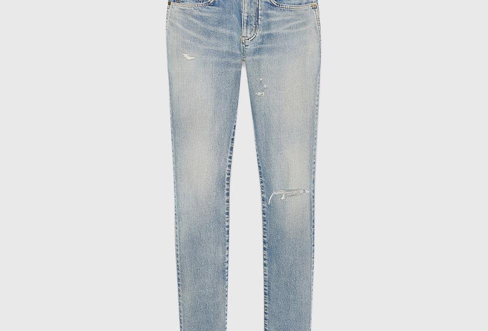 Saint Laurent Skinny Jeans Santa Monica Blue Denim