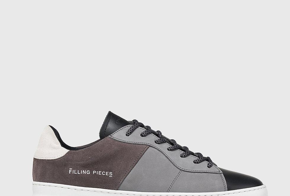 Filling Pieces Low Plain Court Black Grey
