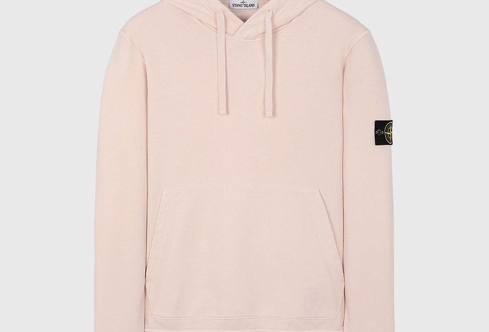 Stone Island 64151 Hooded Sweatshirt Pastel Pink