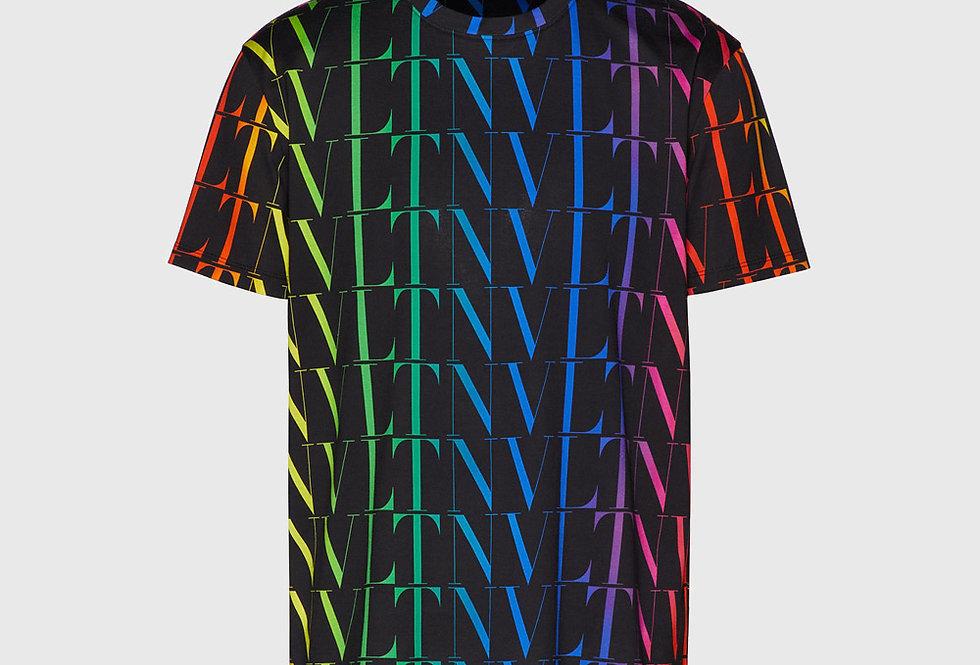 Valentino T-shirt VLTN Times Print Black Multicolor