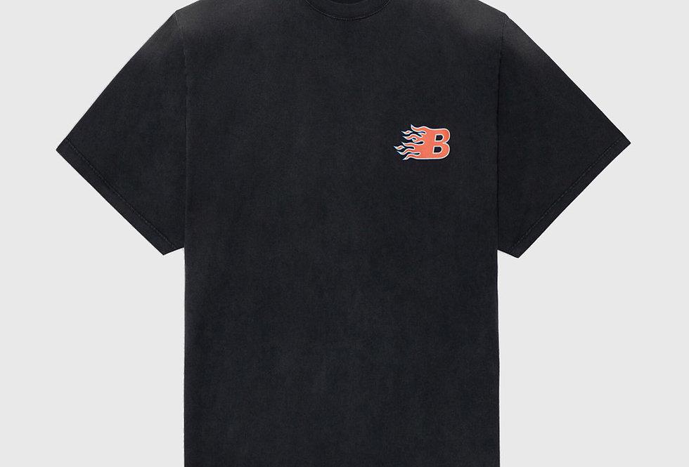 Balenciaga Flame T-shirt Black Red