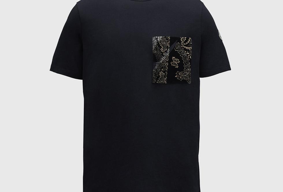 Moncler T-shirt Chest Pocket Night Blue