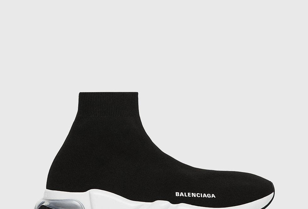 Balenciaga Speed Clearsole Sneaker Black White