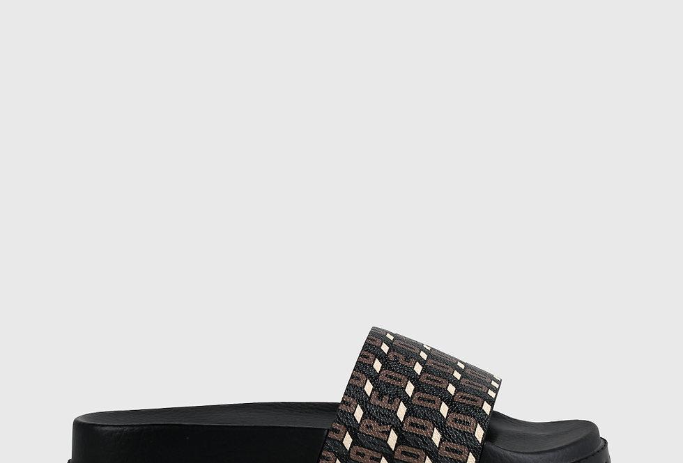 Dsquared2 Monogram Calf Leather Sandals Brown