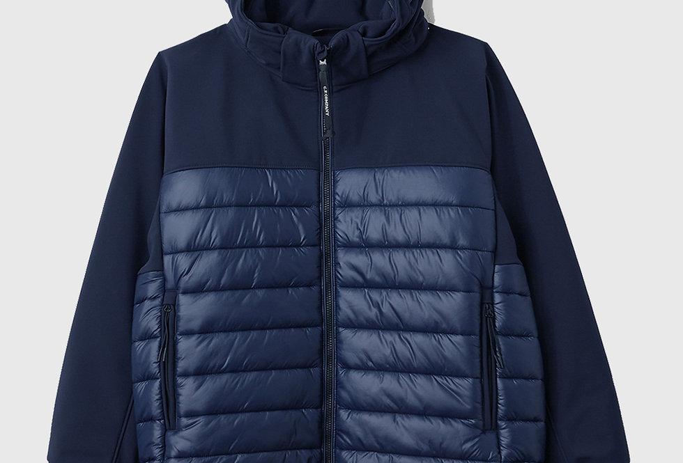 C.P. Company Soft Shell Mixed Padded Goggle Jacket Marine