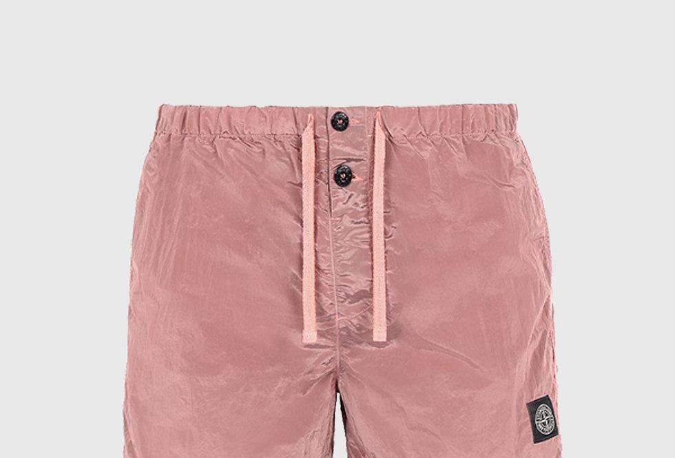 Stone Island B0643 Nylon Metal Swimming Trunks Pink Quartz