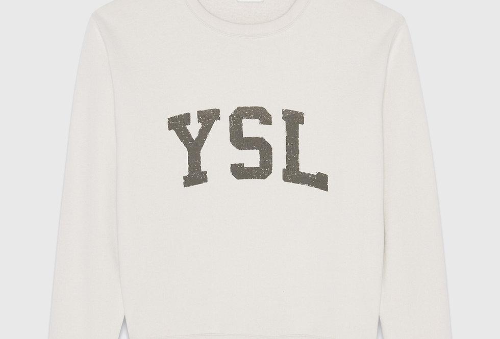 Saint Laurent YSL Sweatshirt Dirty Ecru