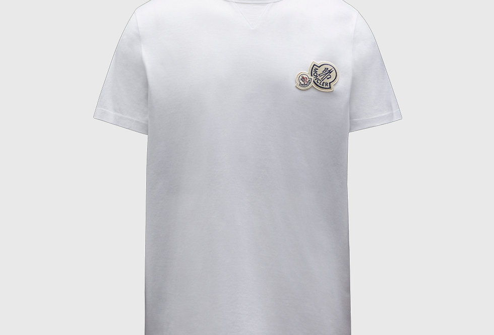 Moncler T-shirt With Logo On Chest White