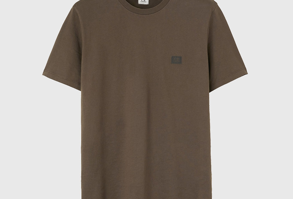 C.P. Company Jersey Chest Label T-shirt Green