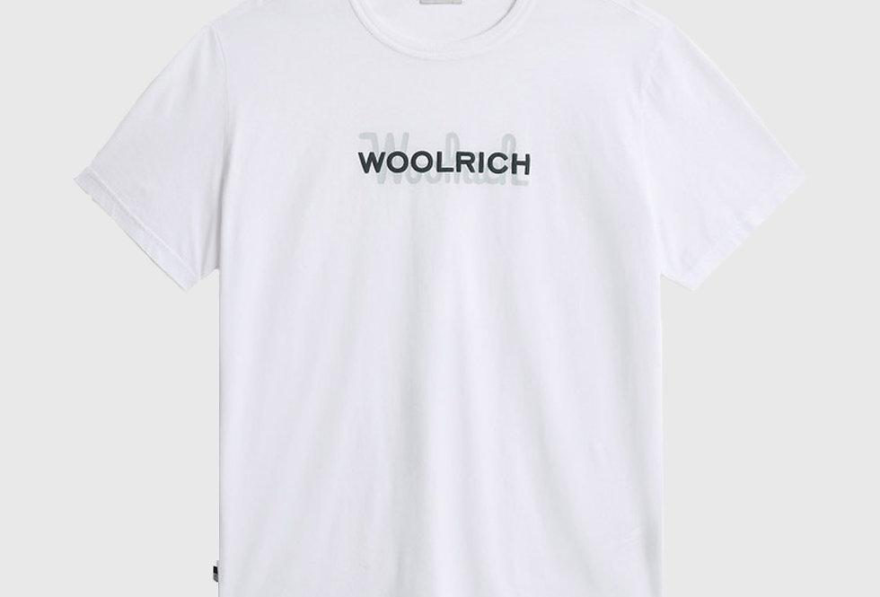 Woolrich Macro Logo Cotton Tee White