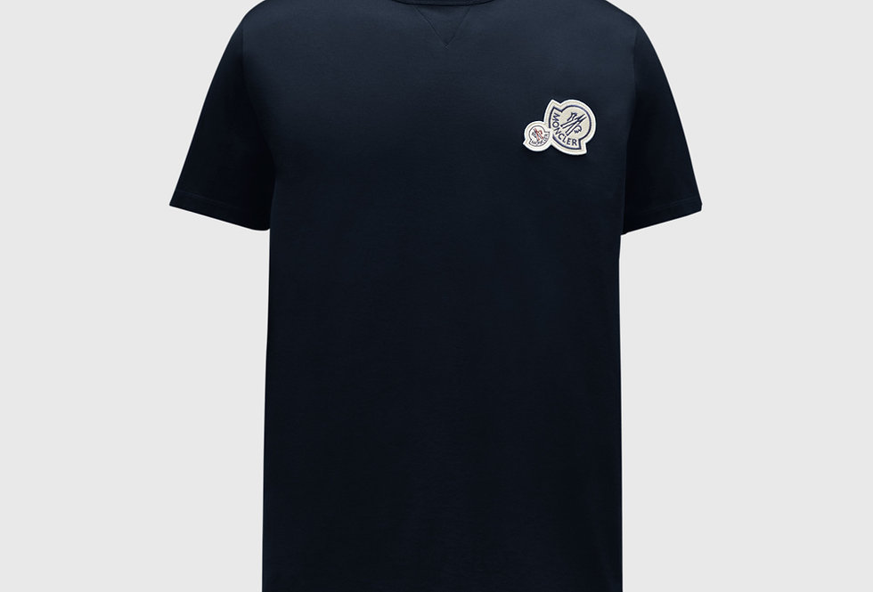 Moncler T-shirt With Logo On Chest Night Blue