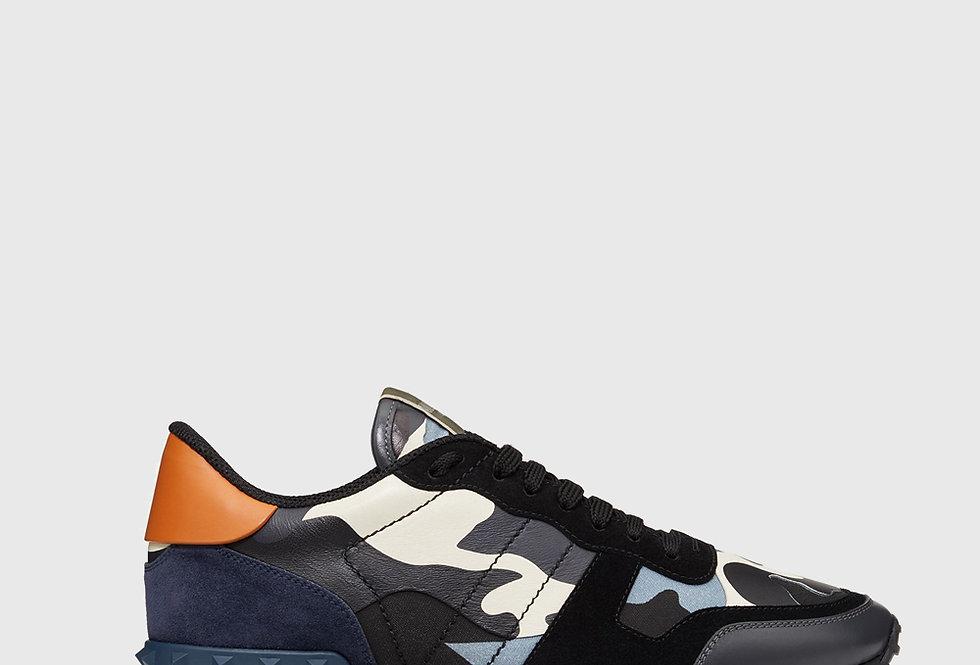 Valentino Camouflage Rockrunner Sneaker Grey Multicolour