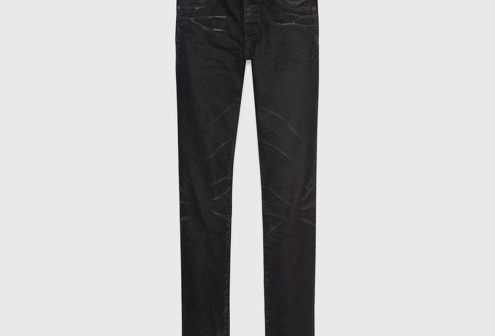 Saint Laurent Skinny Jeans Stretch Denim Black