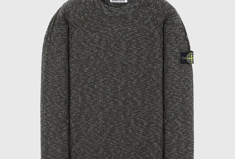 Stone Island 573D3 Melange Knitted Sweatshirt Green