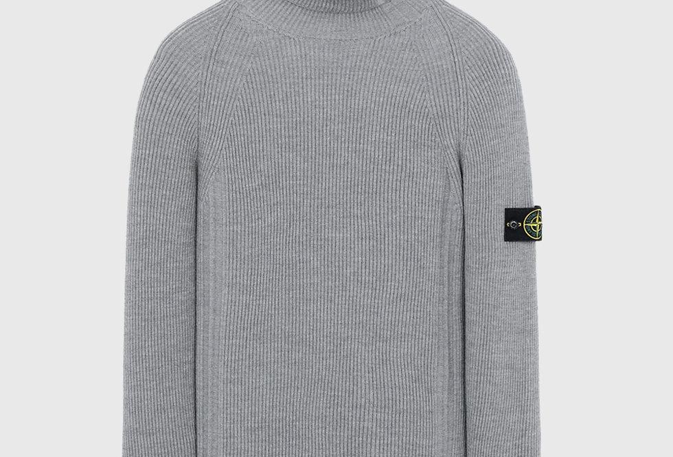 Stone Island 542C2 Rib Wool Sweater Grey