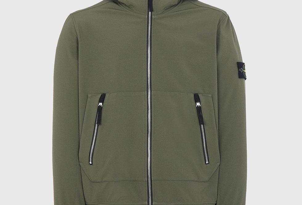 Stone Island 40727 Soft Shell-R Lightweight Jacket Olive Green