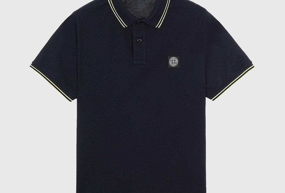 Stone Island 22S18 Stretch Pique Polo Shirt Navy