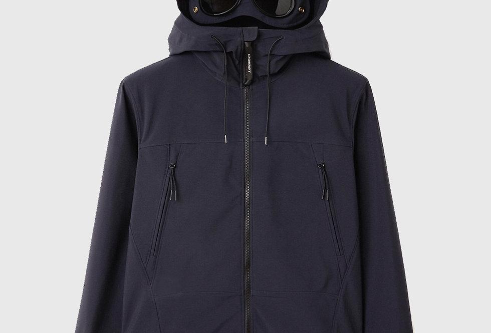C.P. Company Soft Shell-R Medium Goggle Jacket Dark Blue