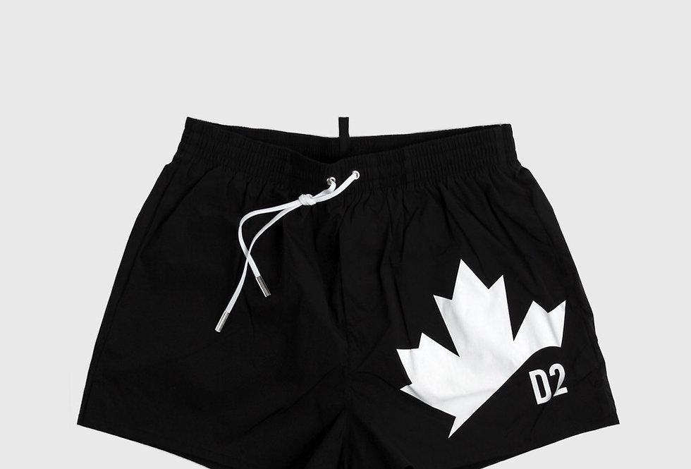 Dsquared2 Leaf Swim Trunks Black