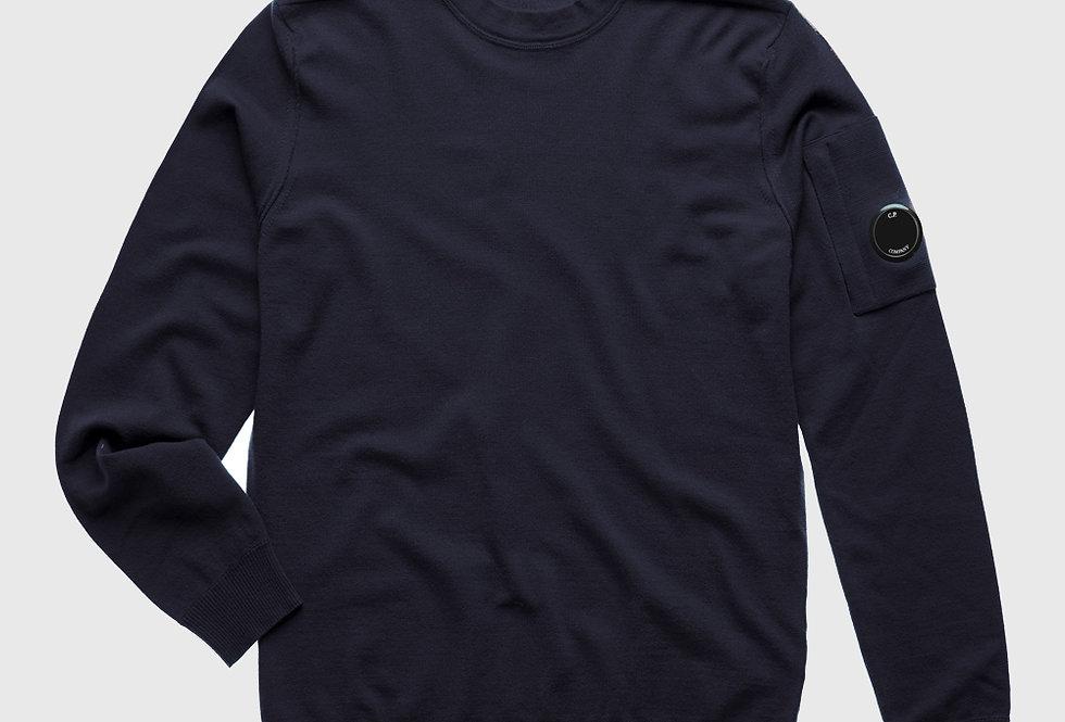 C.P. Company Extrafine Merino Wool Lens Sweater Marine