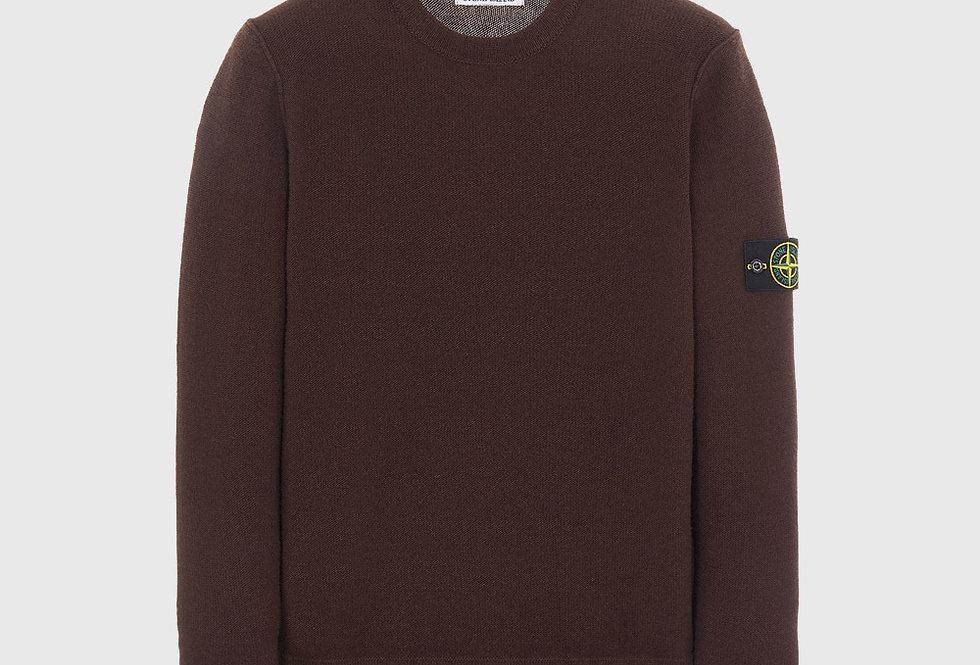 Stone Island 577B6 Geelong Wool Sweater Dark Brown