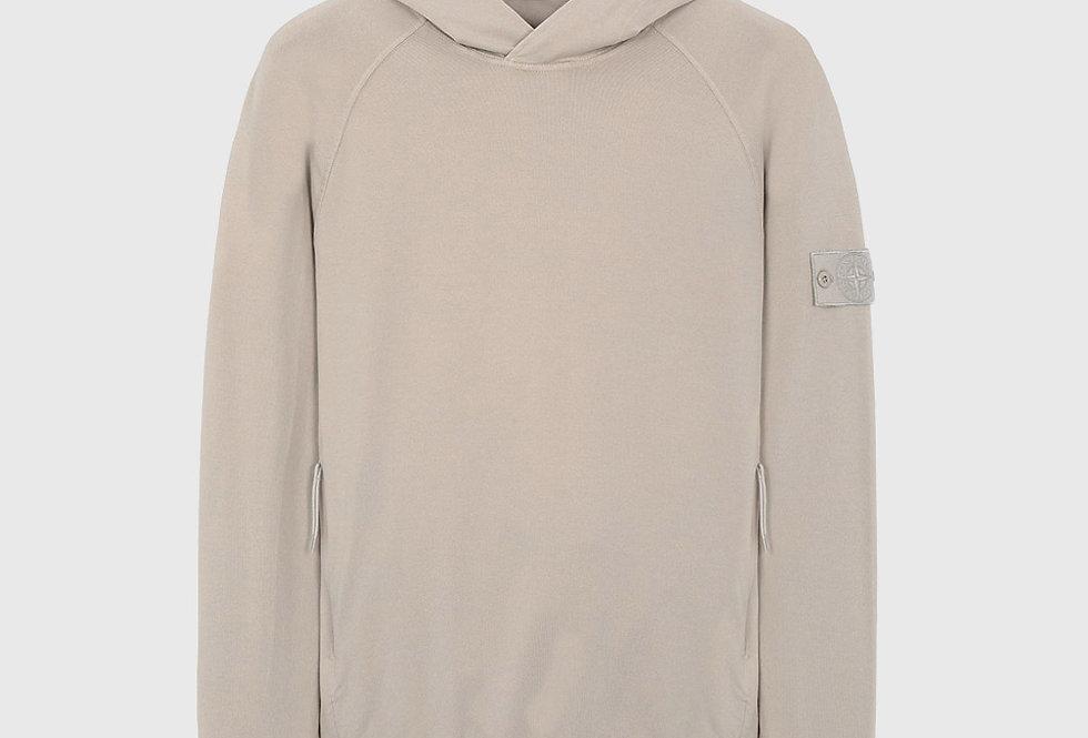 Stone Island 653F3 Ghost Piece Cotton Sweatshirt Beige