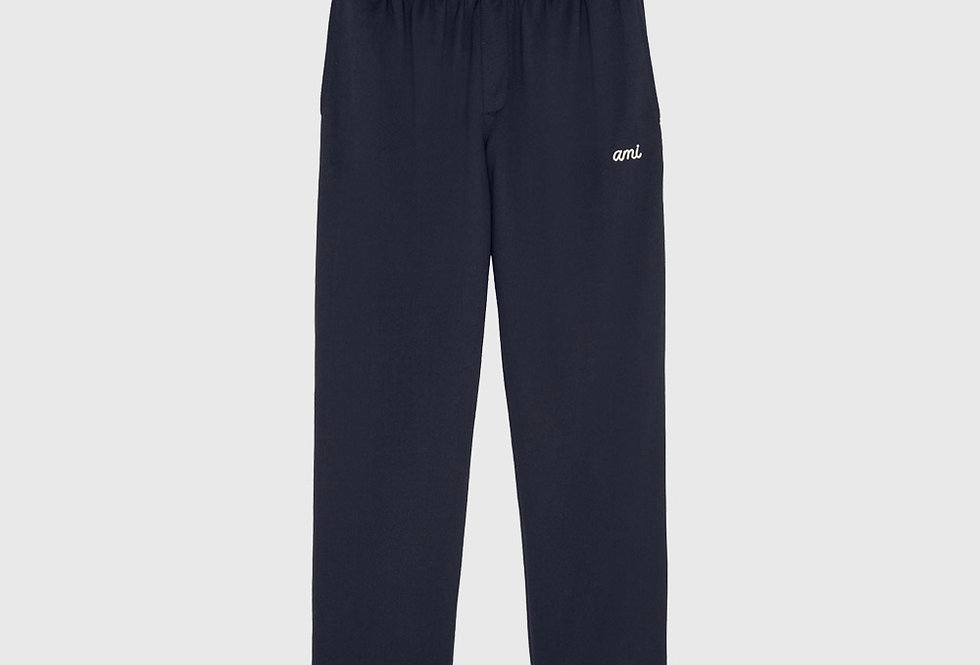 Ami Embroidered Technical Track Pants Navy