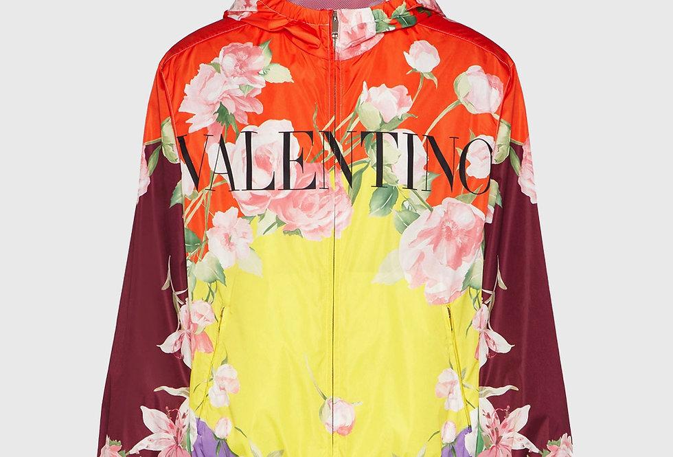 Valentino Flying Flowers Print Windbreaker