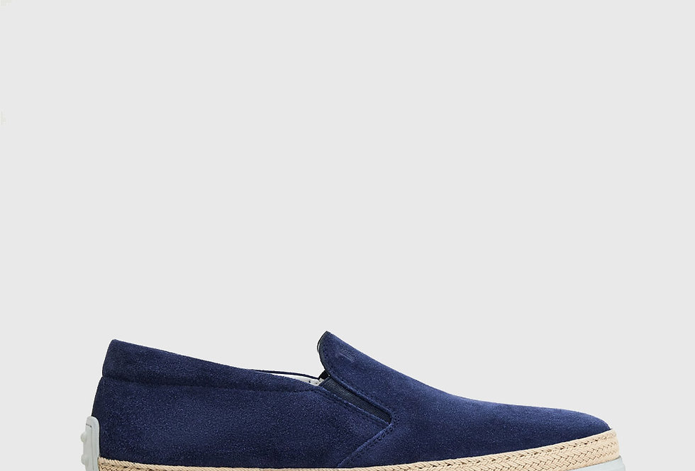 Tod's Slip-Ons Suede Blue