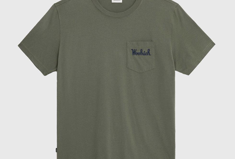 Woolrich Embossed Logo Pocket Tee Green