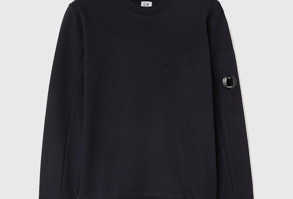 C.P. Company Diagonal Raised Fleece Sweatshirt Dark Blue