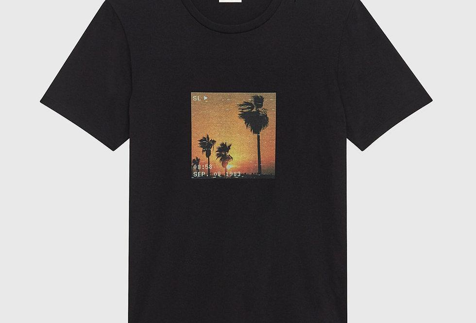 Saint Laurent VHS Sunset T-shirt Black