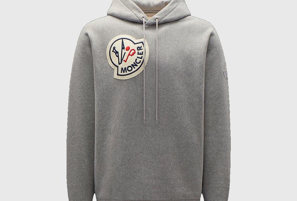 Moncler Logo Hoodie Melange Grey