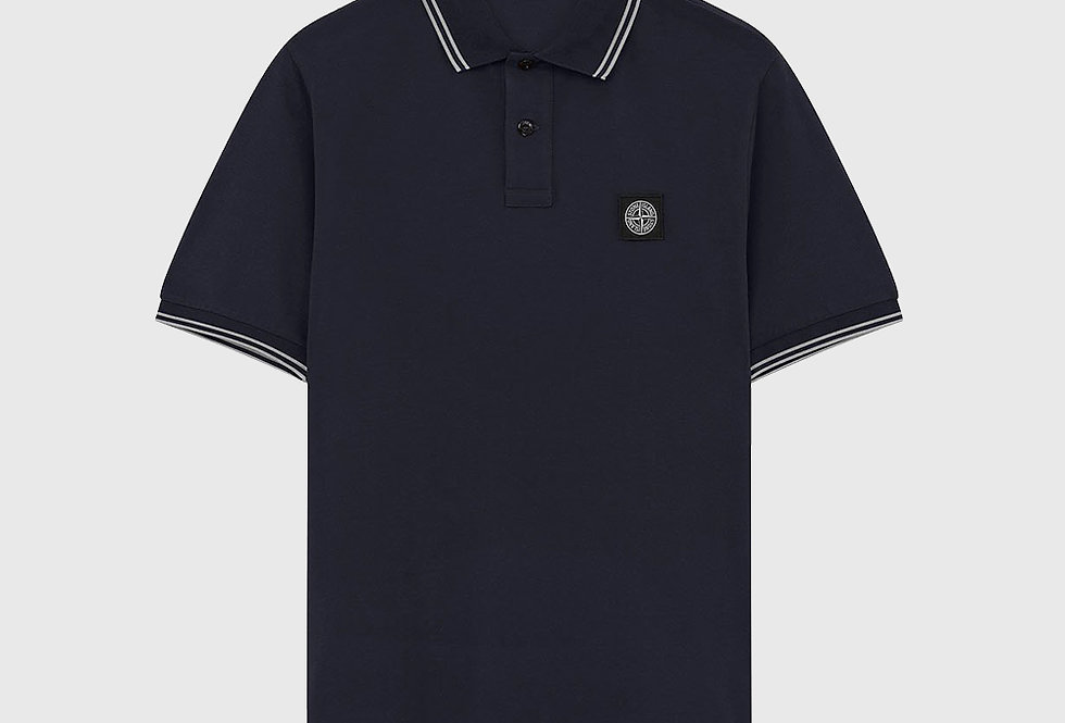 Stone Island 22S18 Stretch Pique Polo Shirt Navy