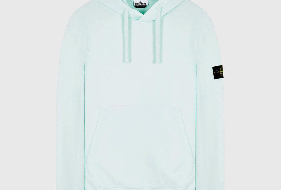 Stone Island 64120 Cotton Fleece Hooded Sweatshirt Light Green