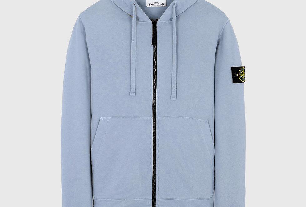 Stone Island 64251 Zip Sweatshirt Pastel Blue