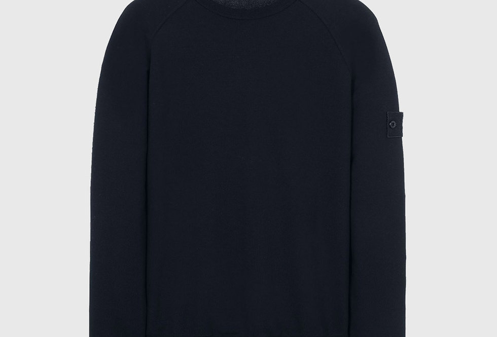 Stone Island 659F3 Ghost Piece Cotton Sweatshirt Blue