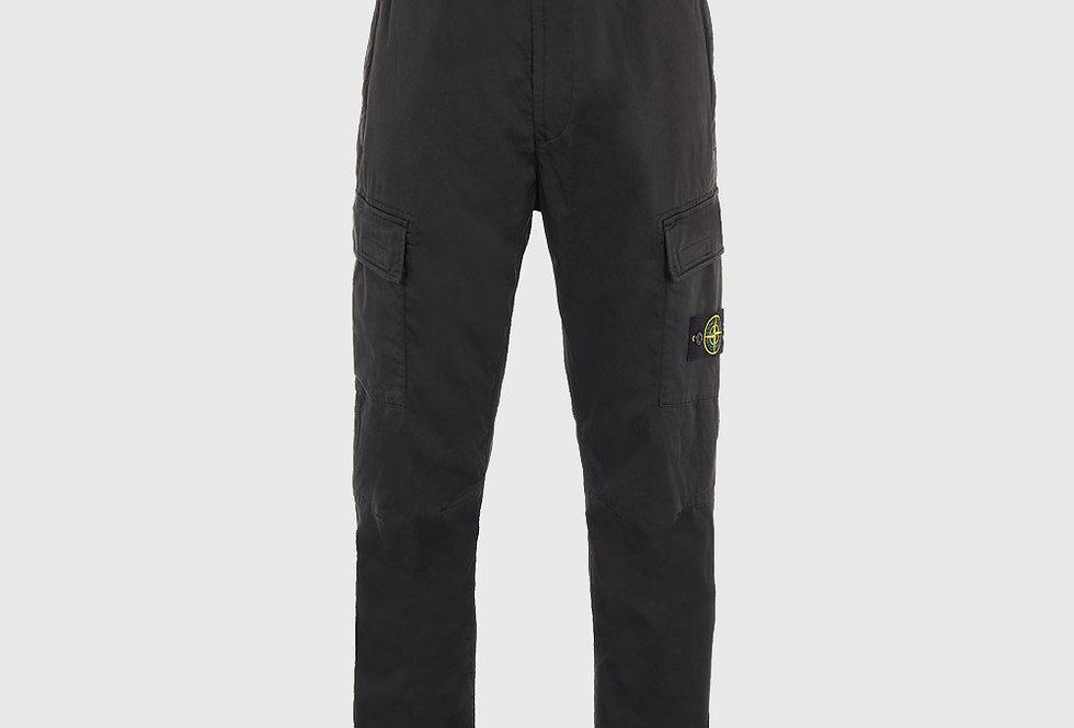 Stone Island 31314 Stretch Cotton Wool Satin Trousers Black