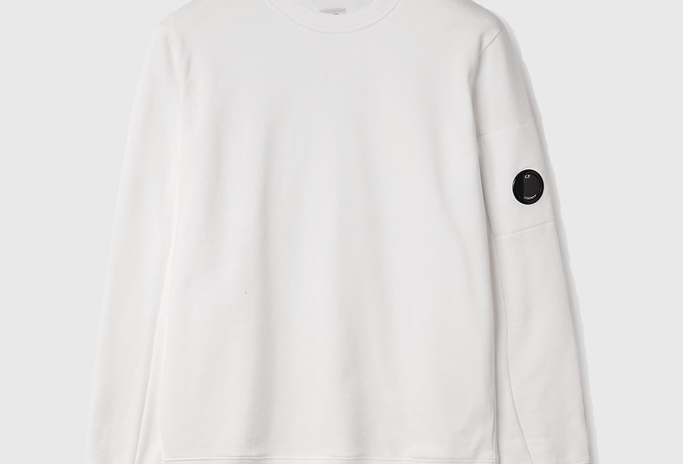C.P. Company Diagonal Raised Fleece Sweatshirt White